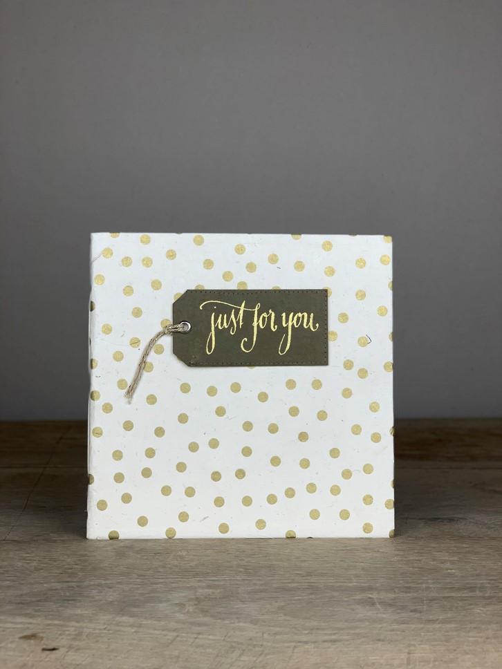Album Softcover Tag Quart just for you gold/weiß Tupf