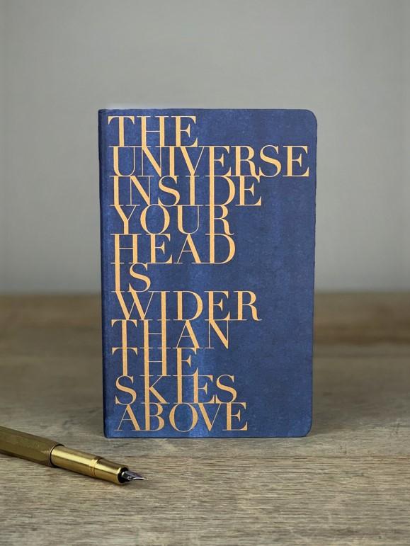 Notizbuch blau Universe