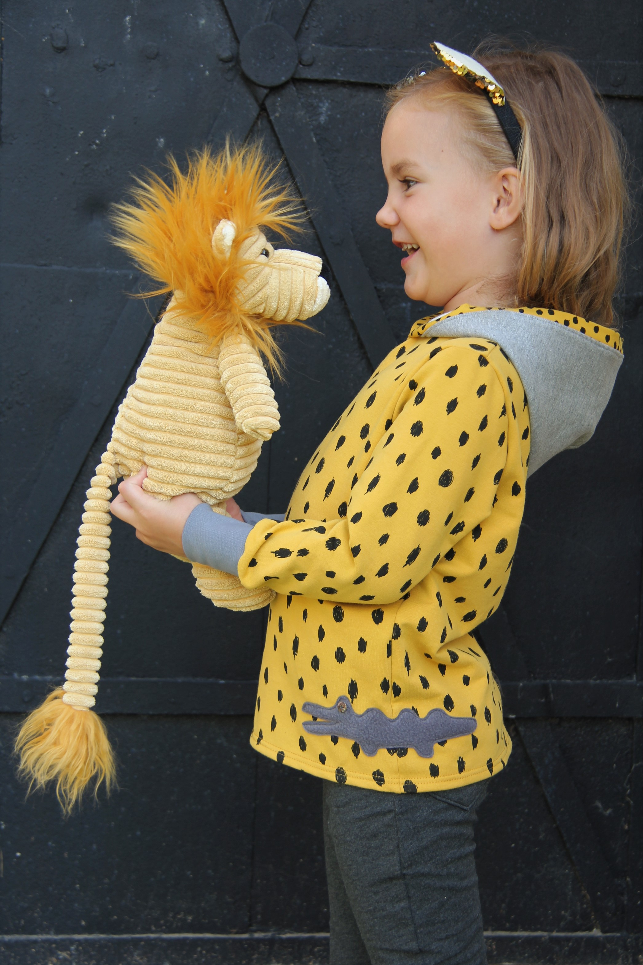 Pullover Kroko Gelb