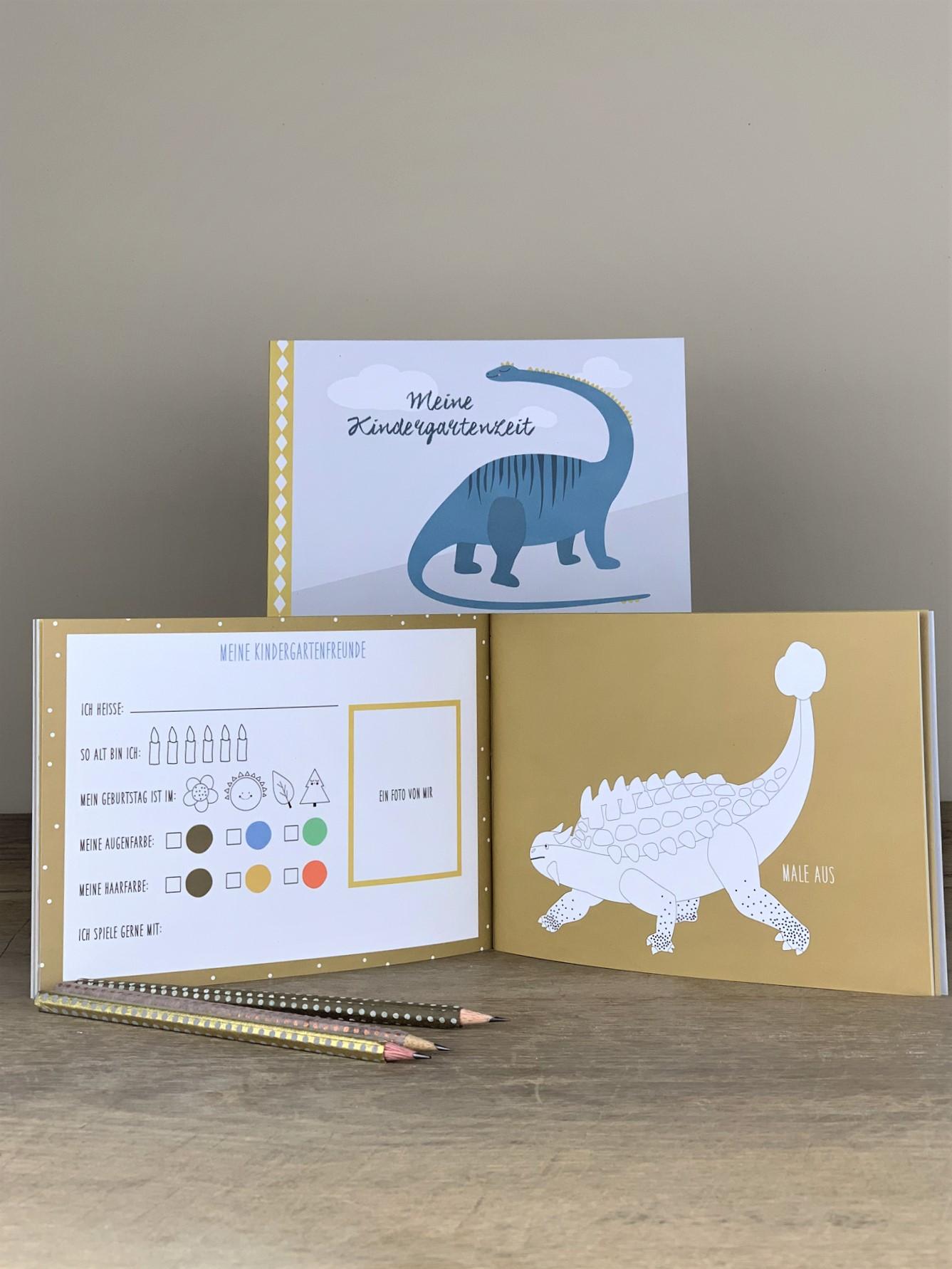 Erinnerungsbuch Kindergartenzeit Dino