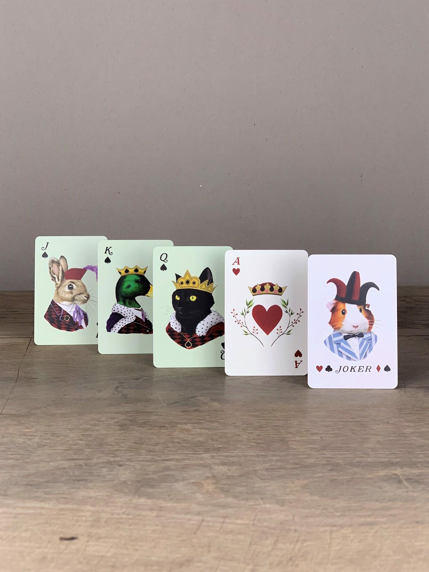 Spielkarten  Royal Animals bunt