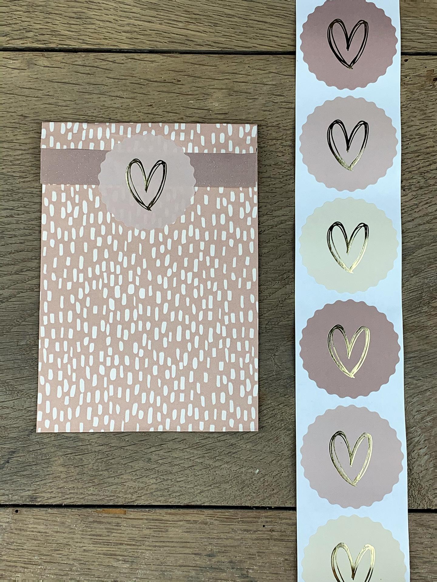 Sticker Herz pastell rosa