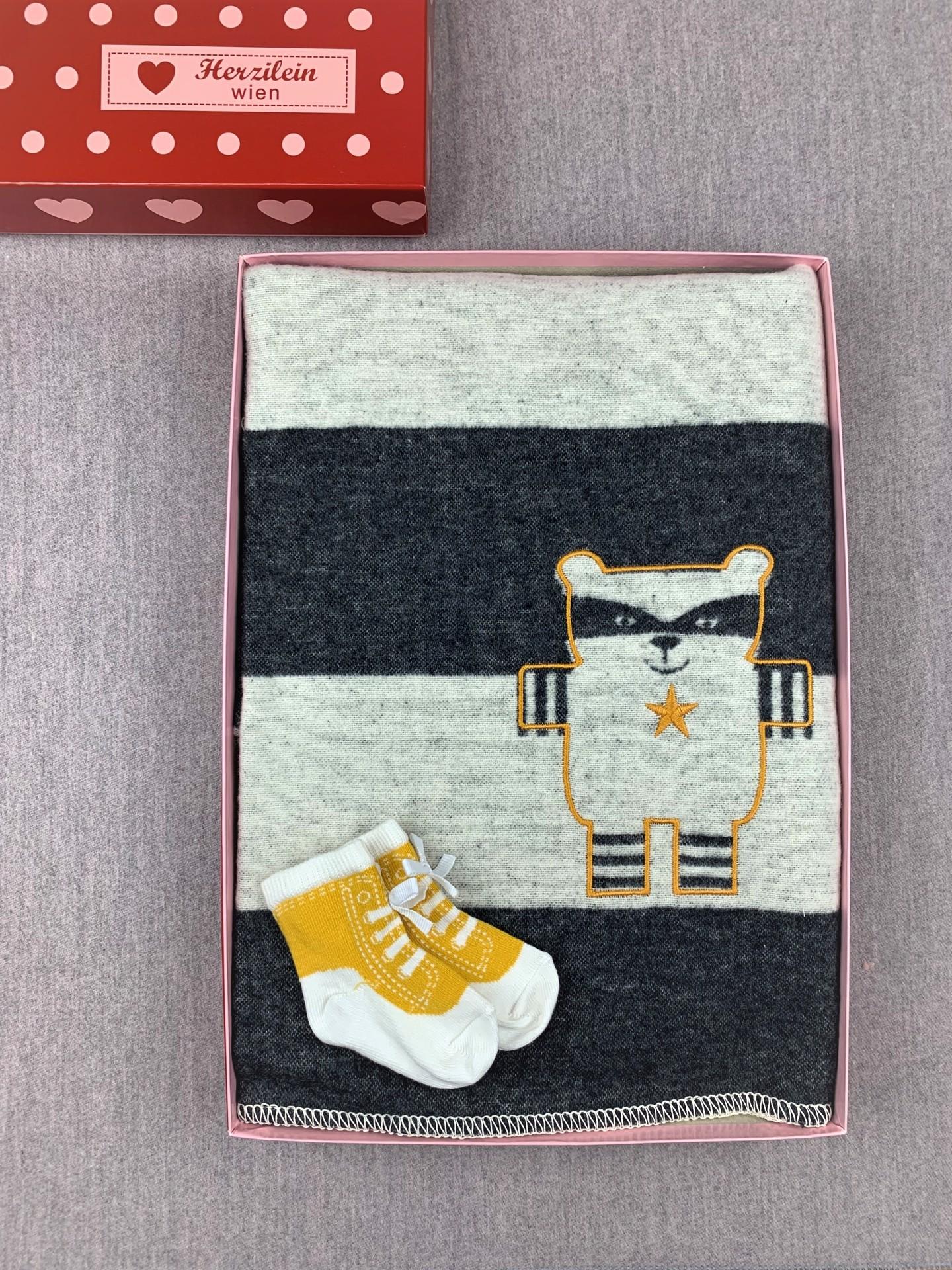Geschenkbox No. 20 Waschbär schwarz/weiß