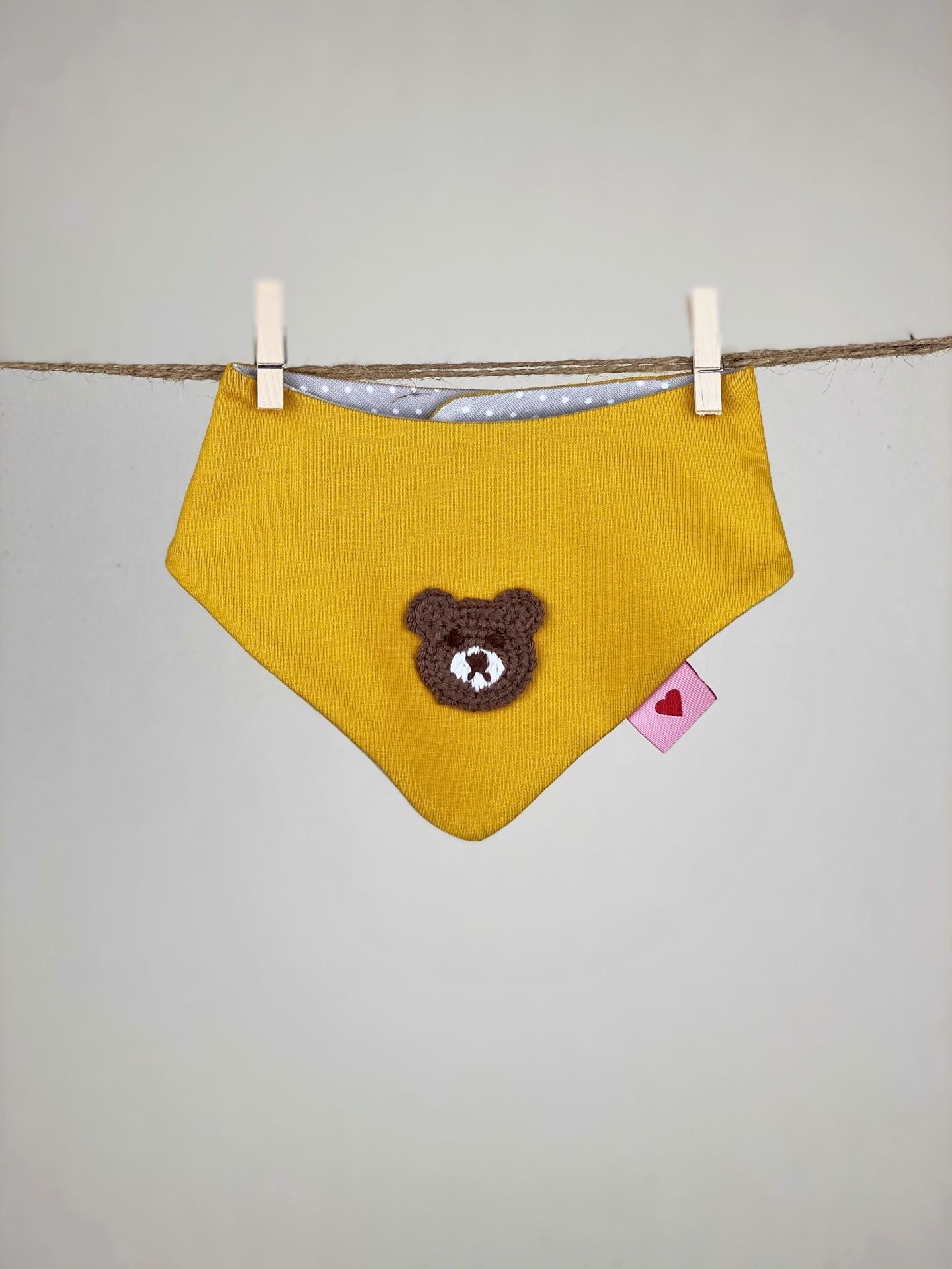 Halstuch Baby Bär gelb