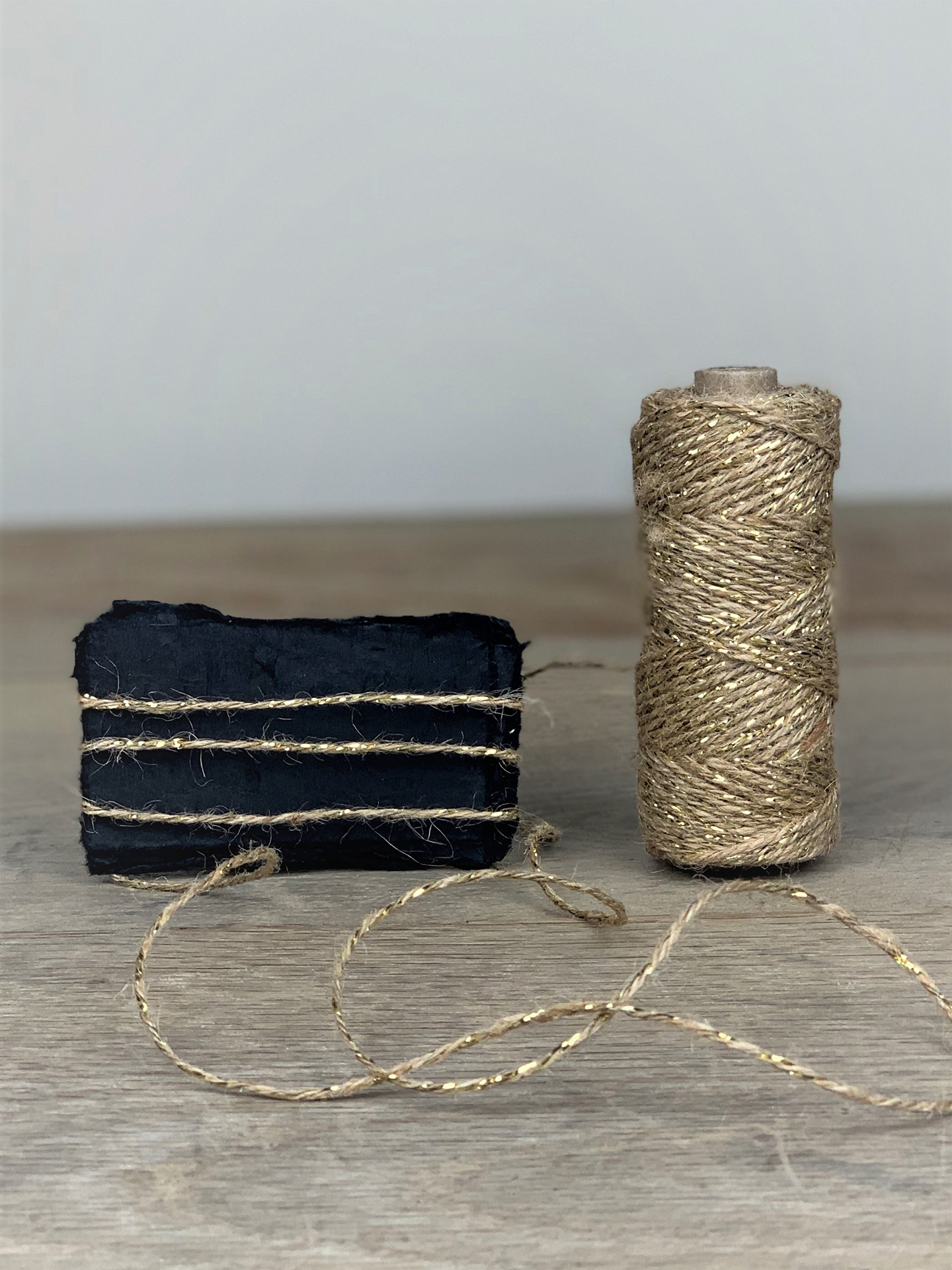 Bakers Twine 50m natur/gold