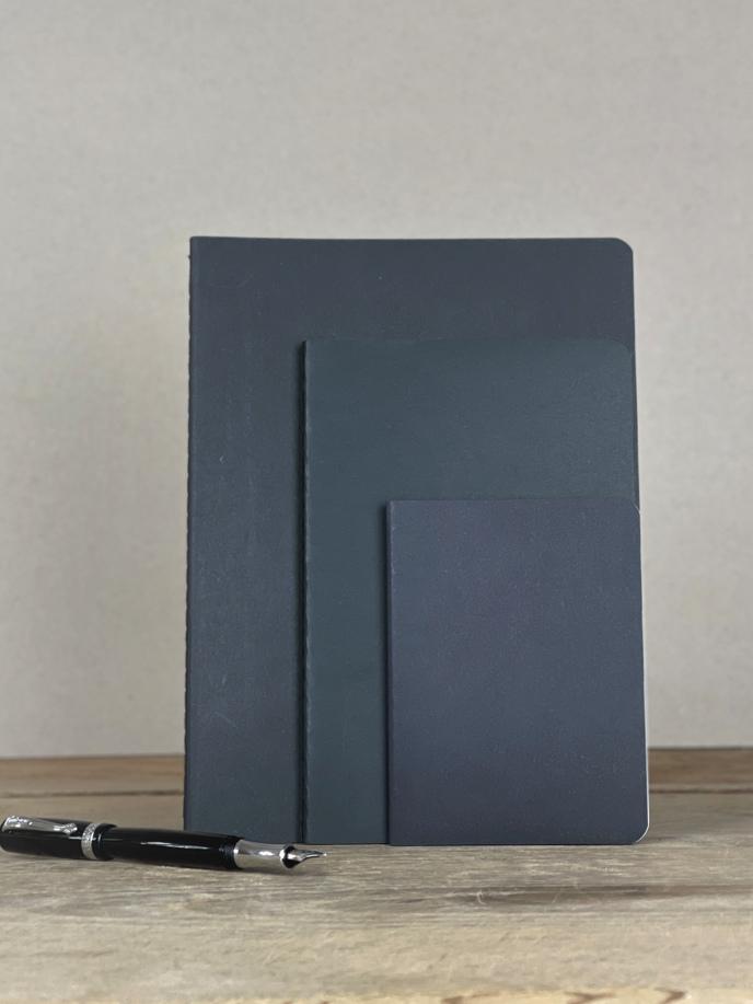 Einlageheft für Notizbuch schwarz