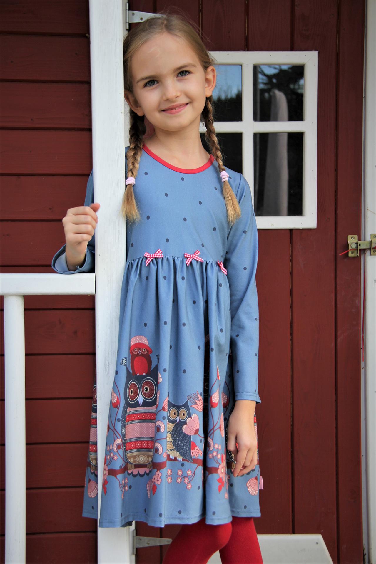 Kleid happy owl blau