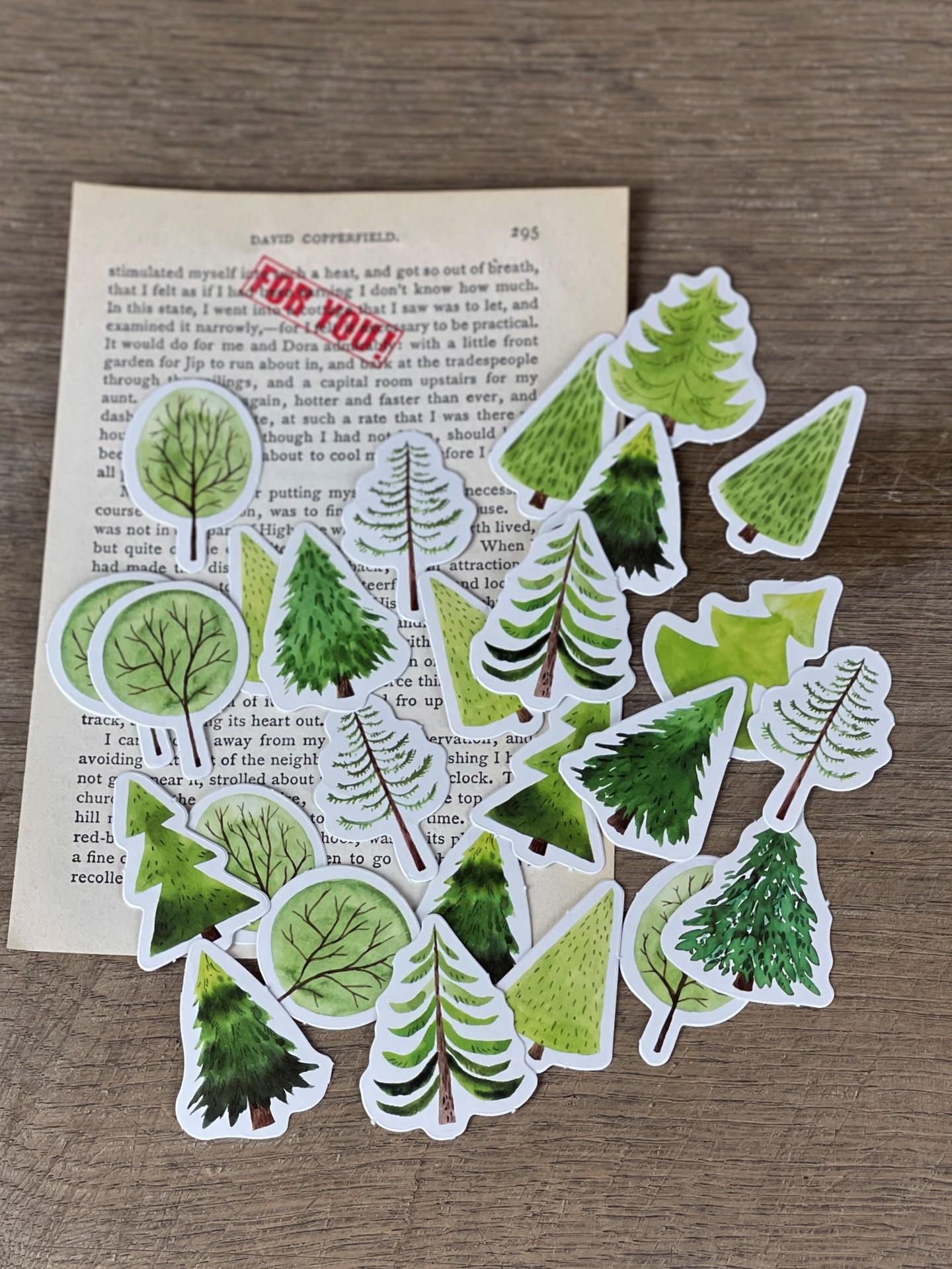 Stickerset Bäume