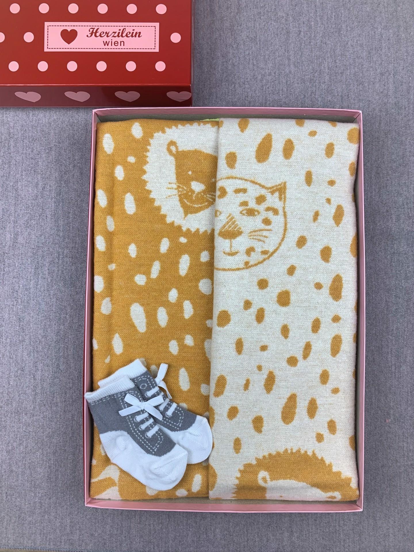 Geschenkbox Set No. 17 Löwe gelb/weiß