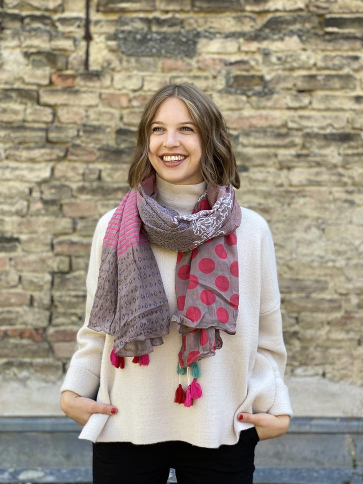 Schal Muster bunt/pink