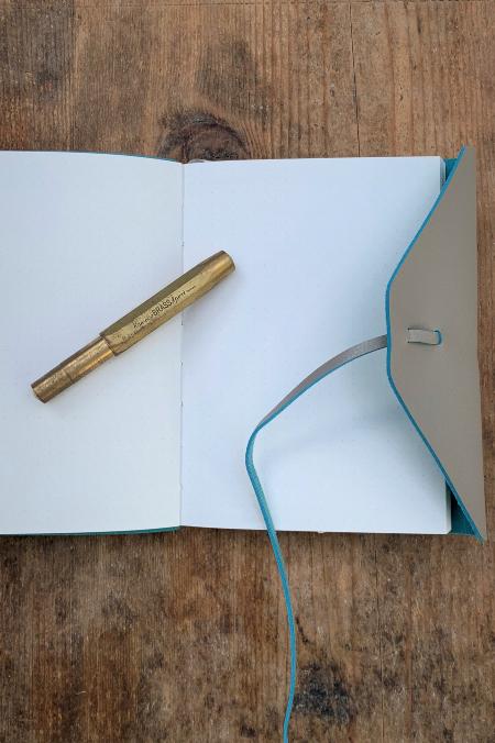 Notebook  Elegant türkis grau