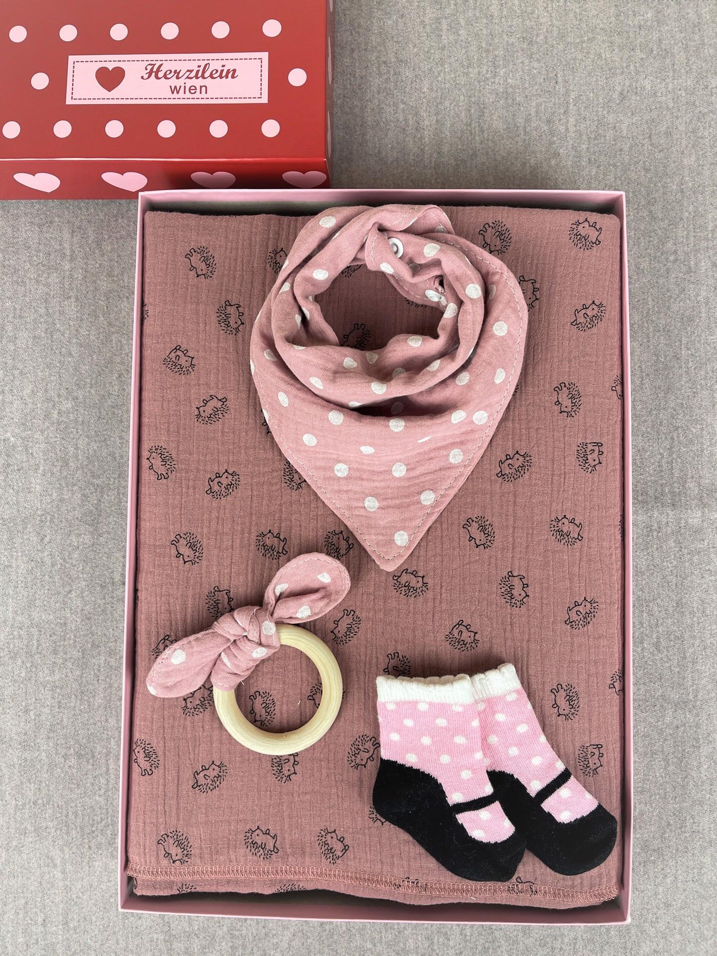 Geschenkbox Set No. 15 Igel Rosa