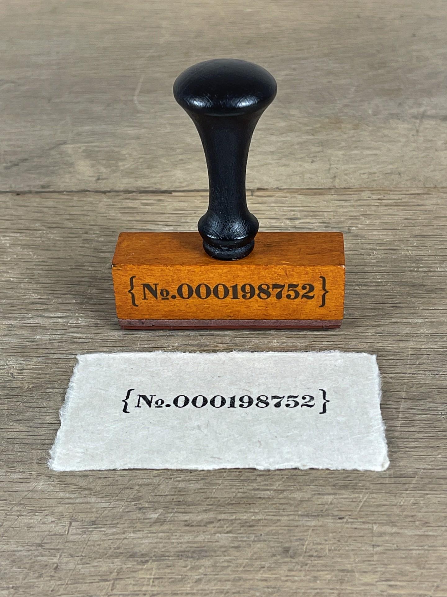 Stempel Nummer