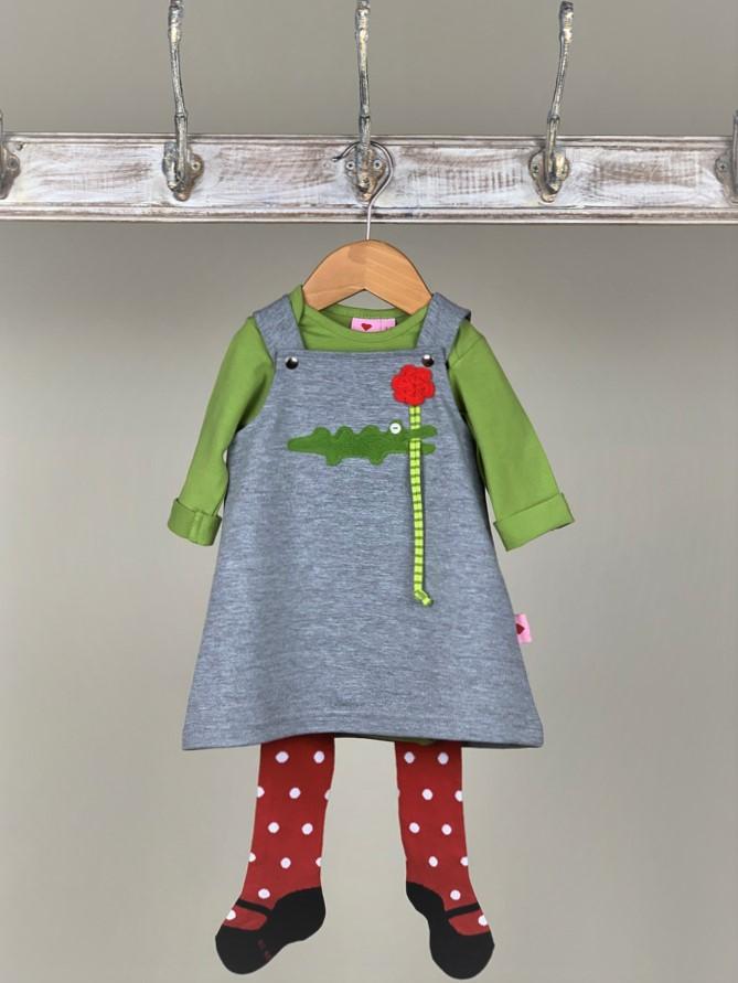 Kleid  Baby Kroko grau