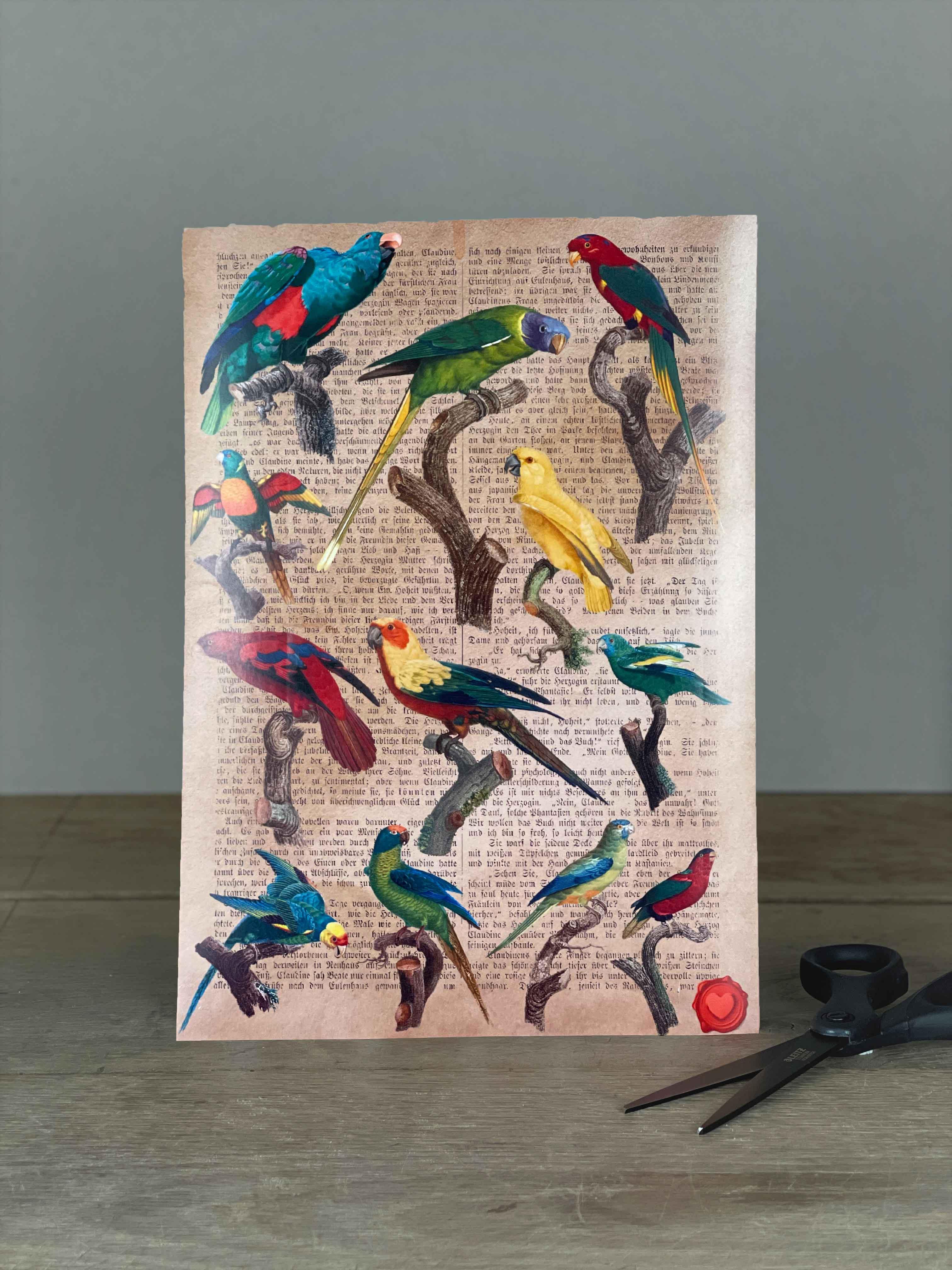 Stickerbogen Papagei