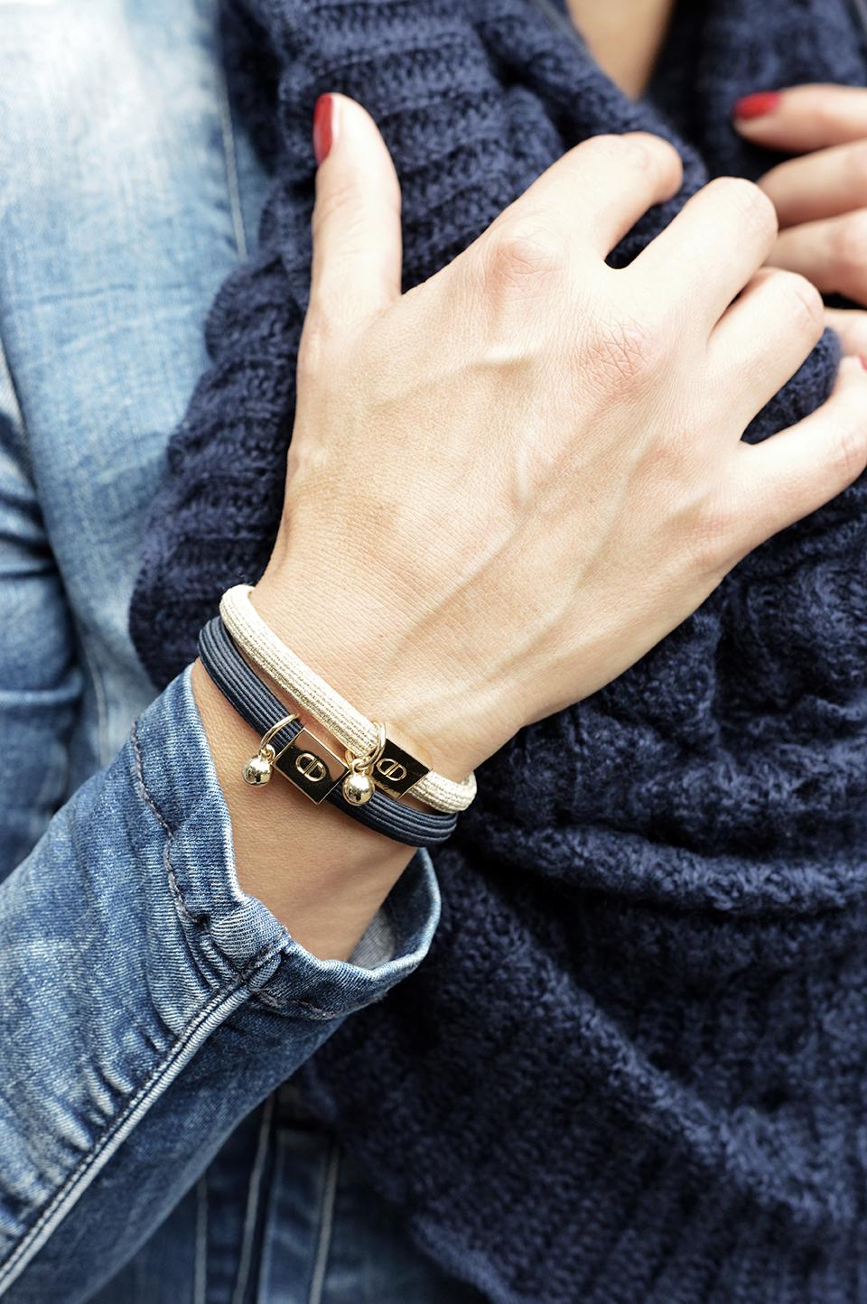 Armband elasitc blau