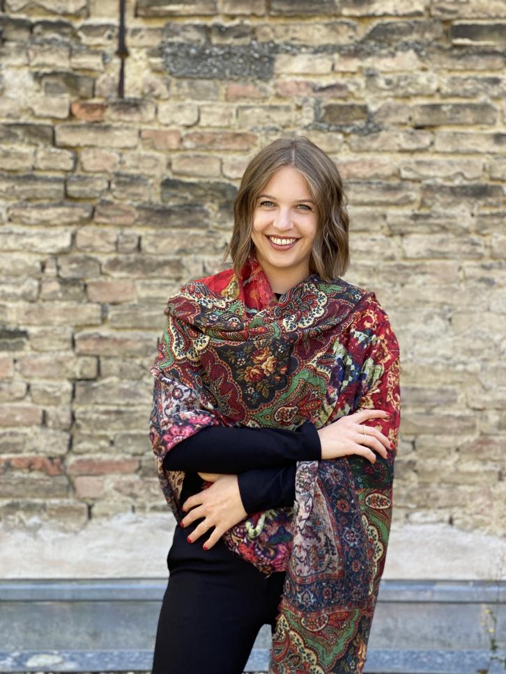 Schal Wolle bunt oriental