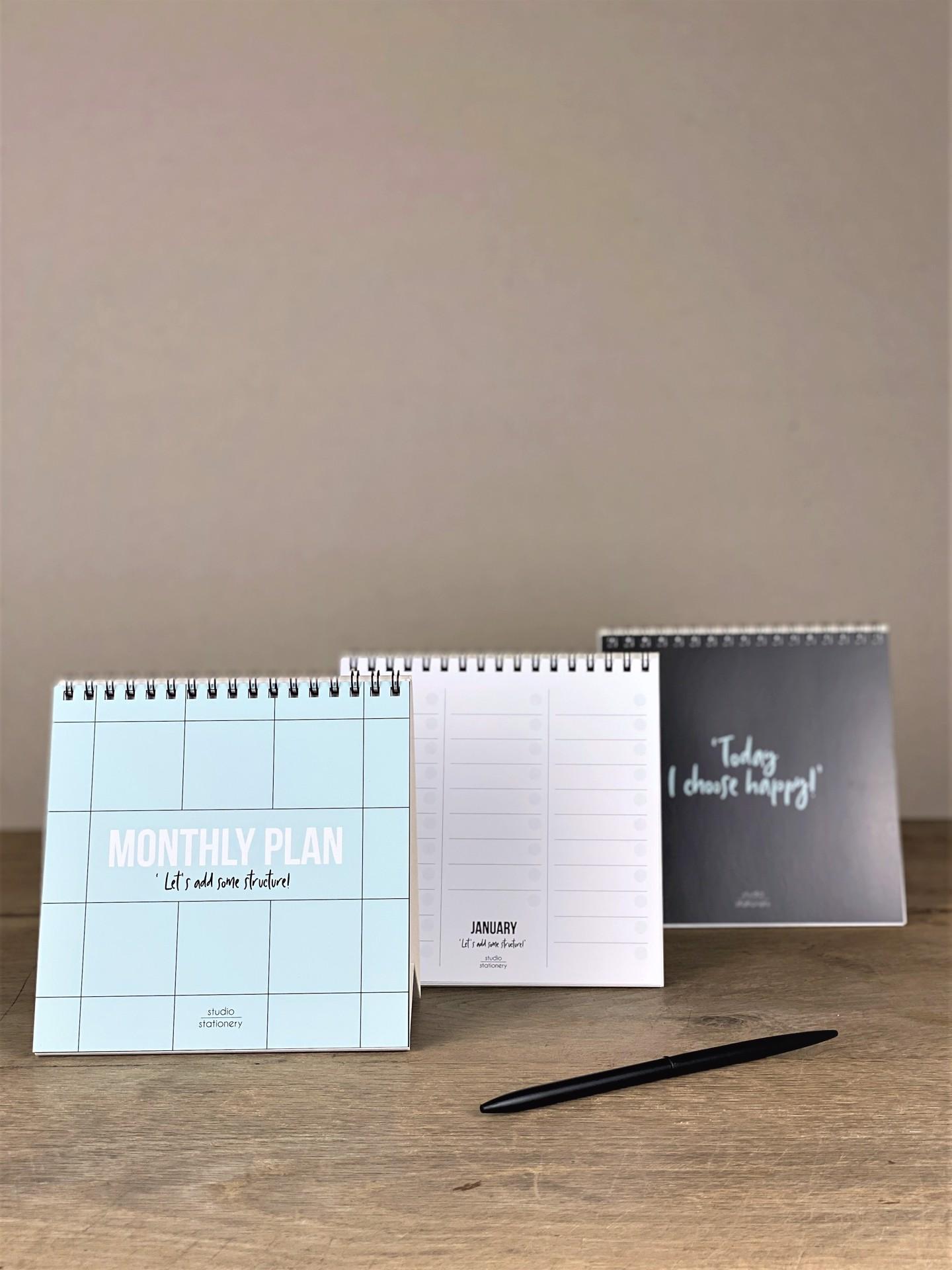 Stehkalender Monthly Plan