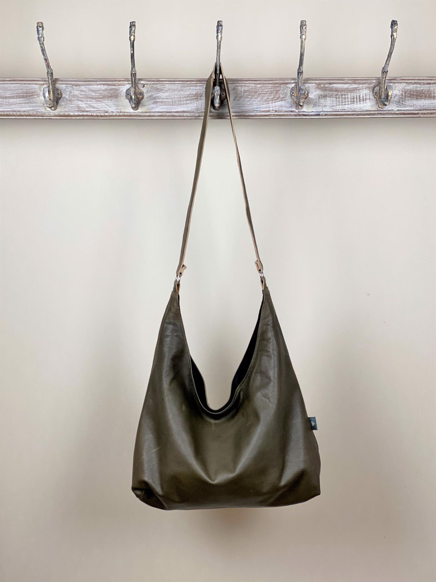 Leder Tasche olivgrün
