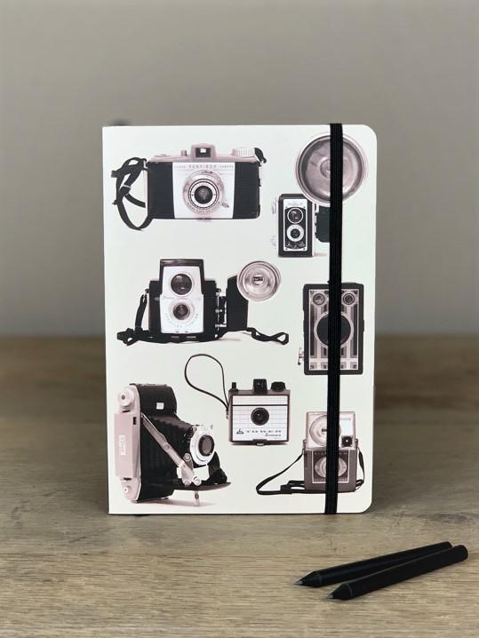 Notizbuch Kamera schwarz/weiß