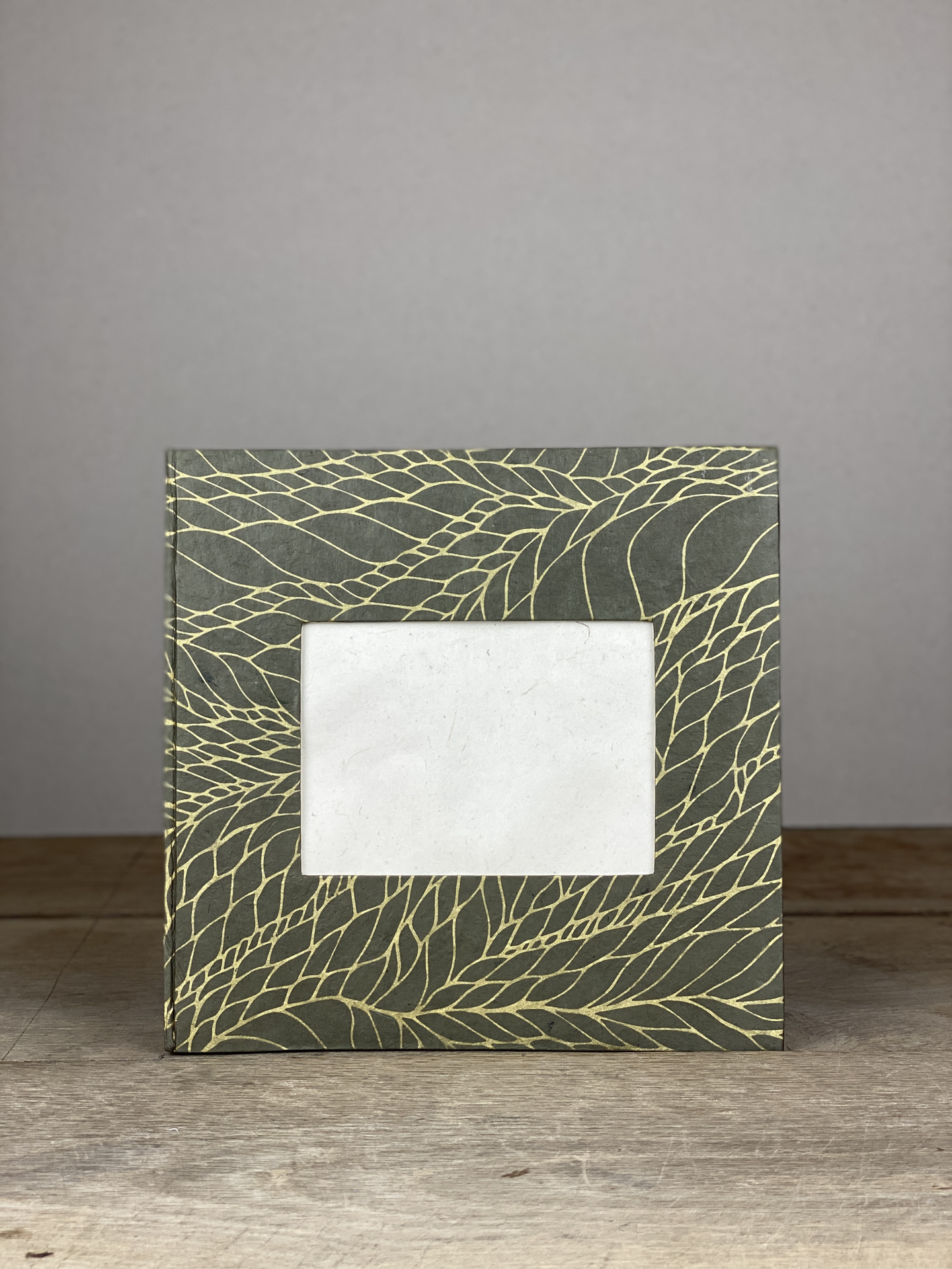 Album Hardcover Quart grau/gold geflochten