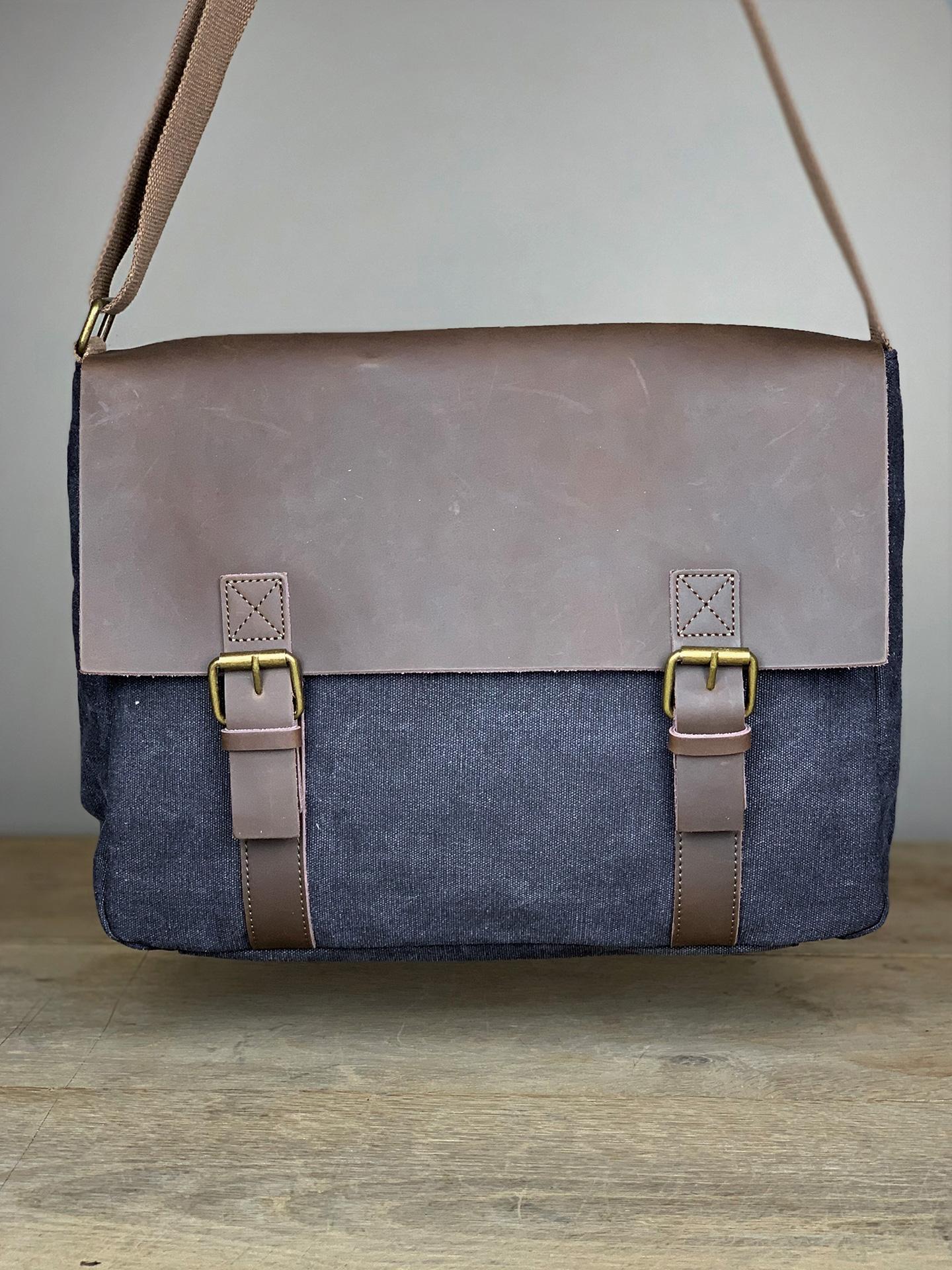 Trend Tasche mit Lederlasche anthrazit
