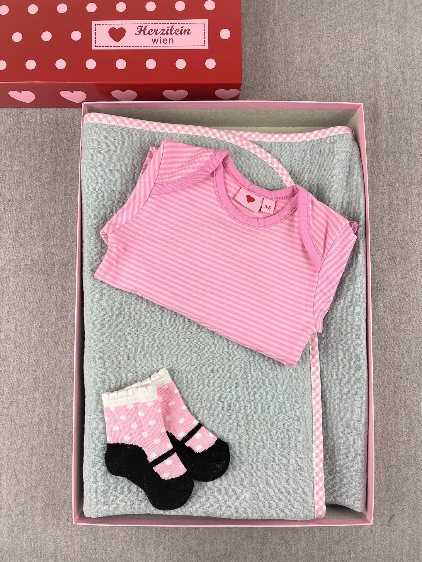 Geschenkbox Set No. 31 classic rosa/grau