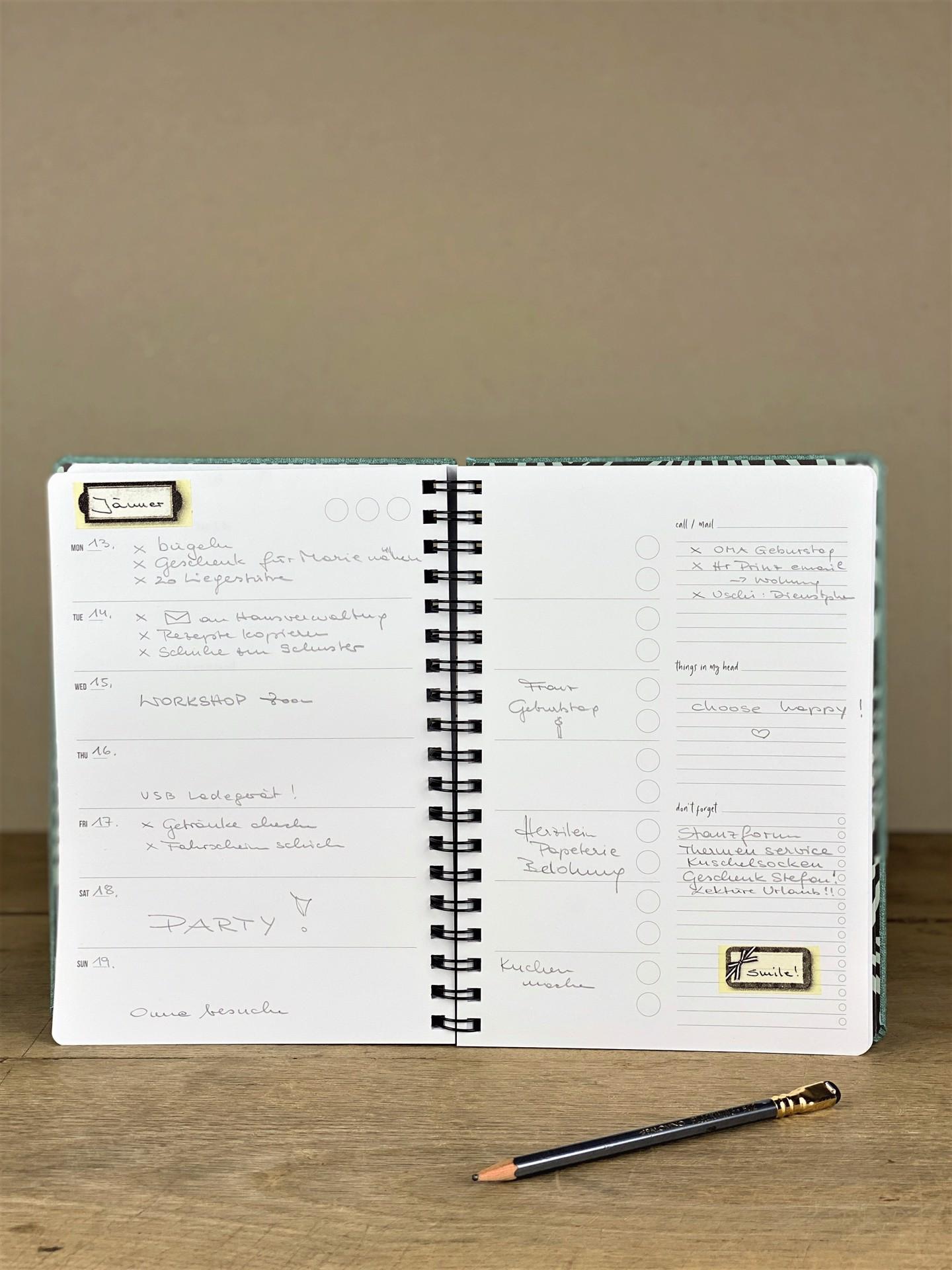 Kalender undatiert Some serious plans