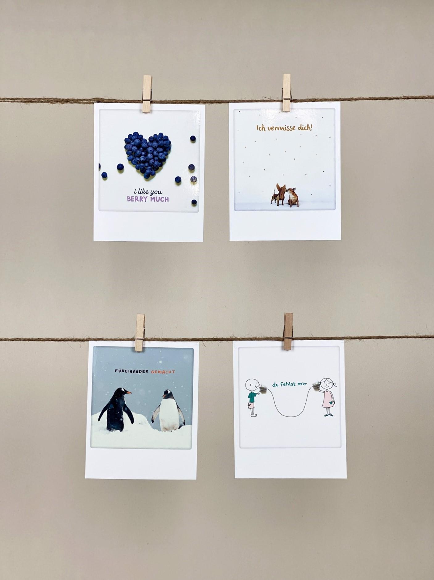 Polaroid-Karte-Set Liebe