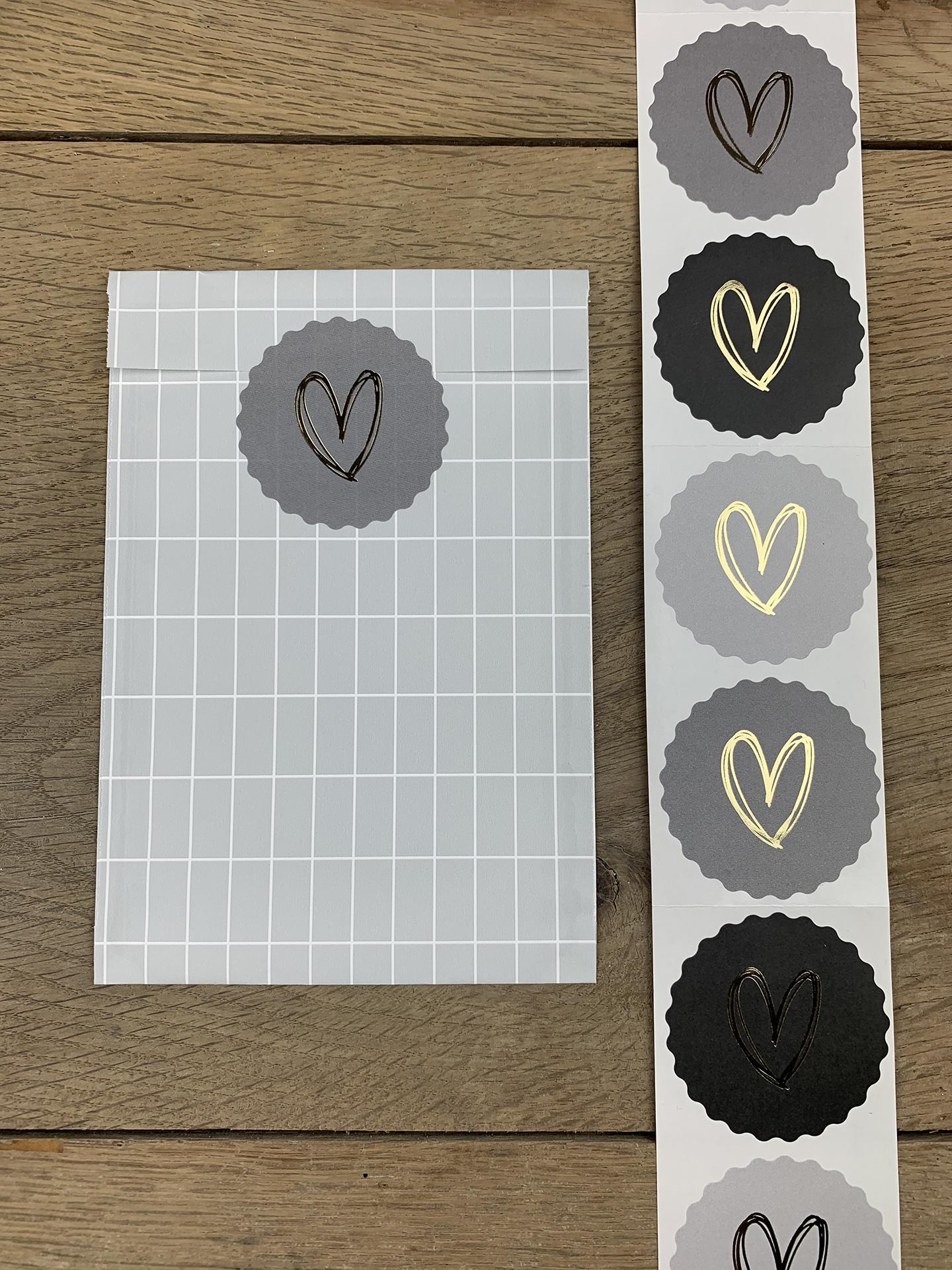 Sticker Herz pastell grau