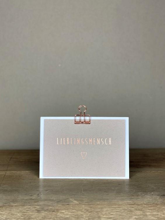Postkarte rosé Lieblingsmensch