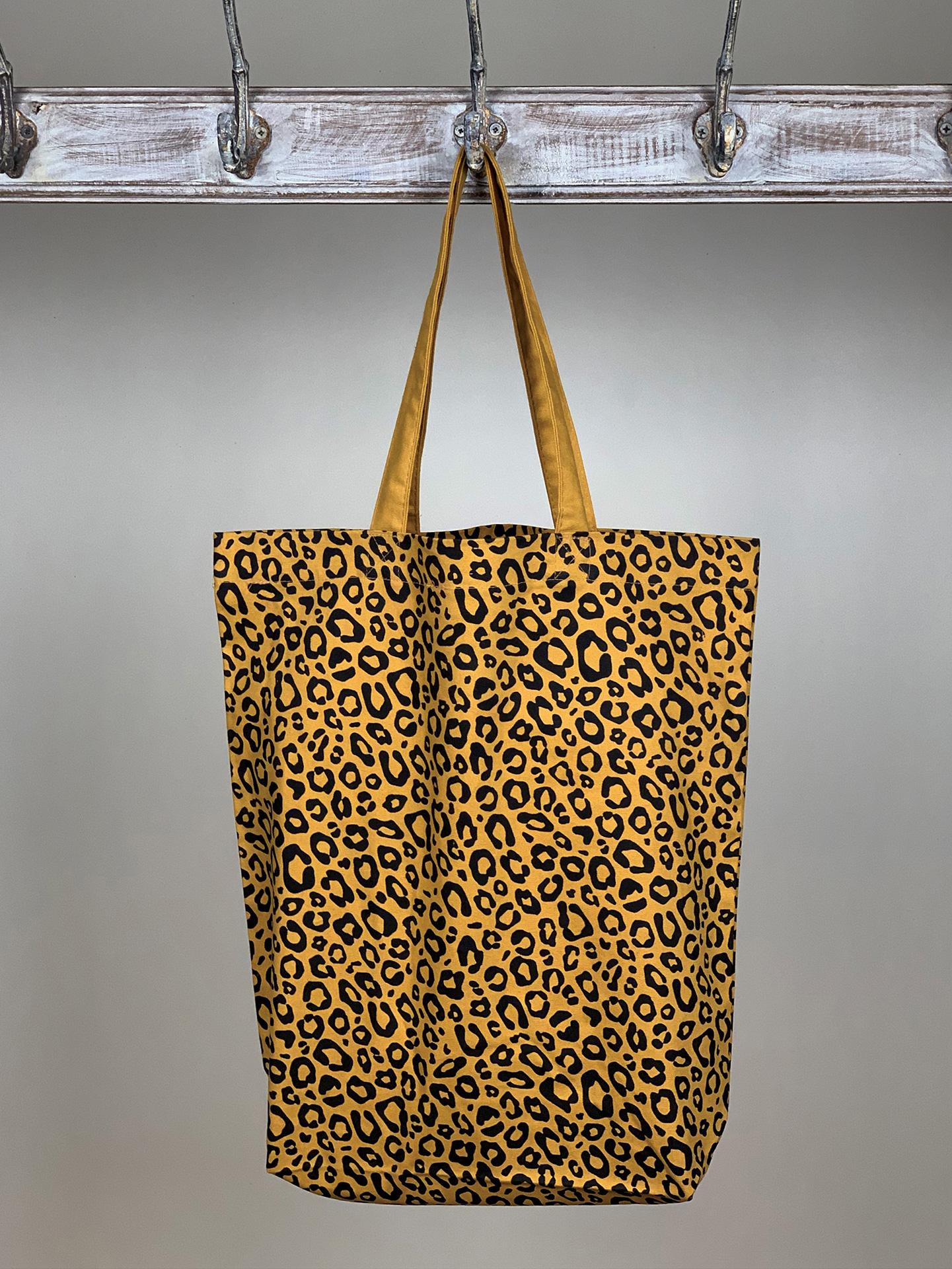 Shopper Print Leo schwarz gelb