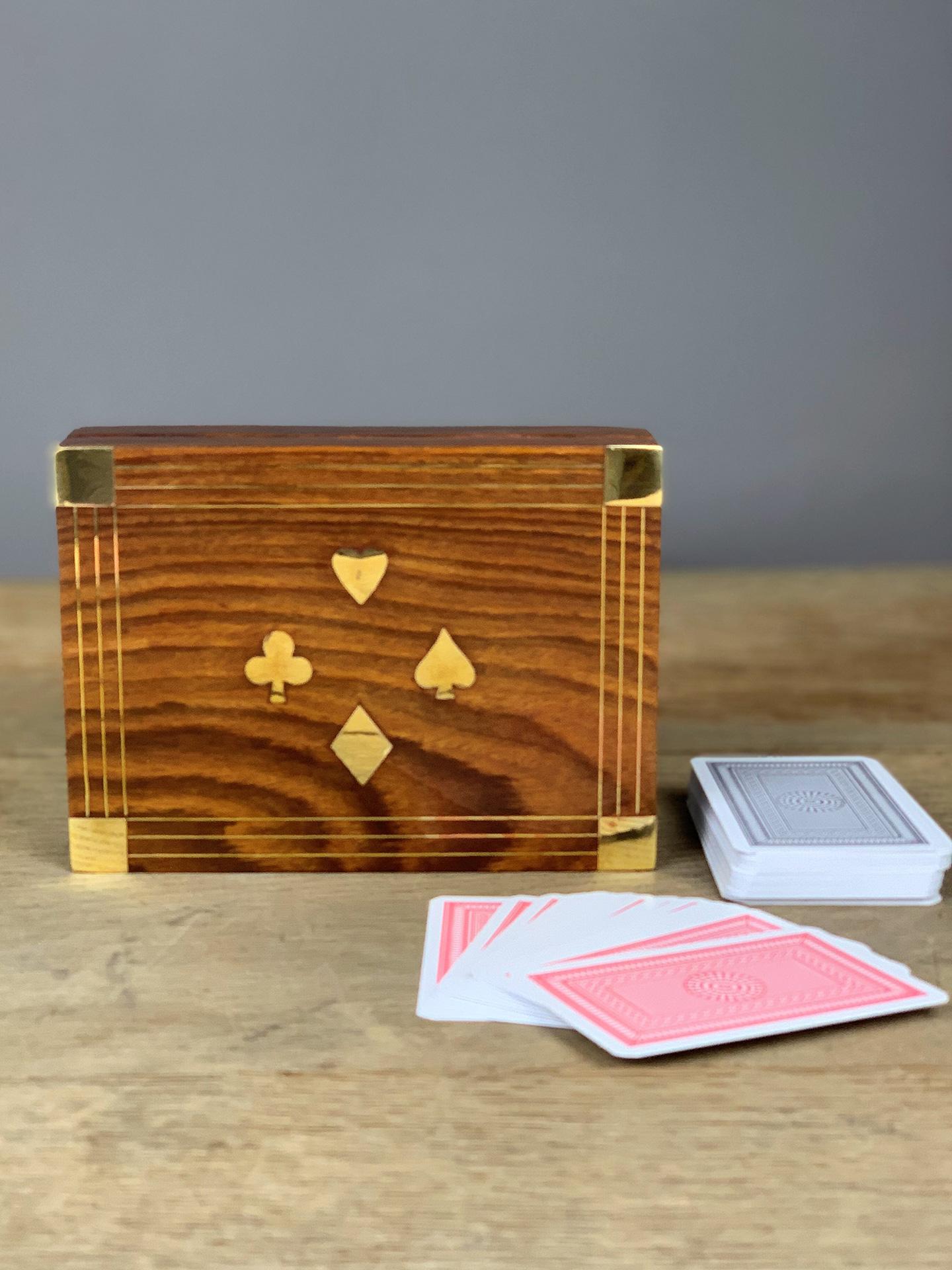 Holzschatulle Kartenspiel