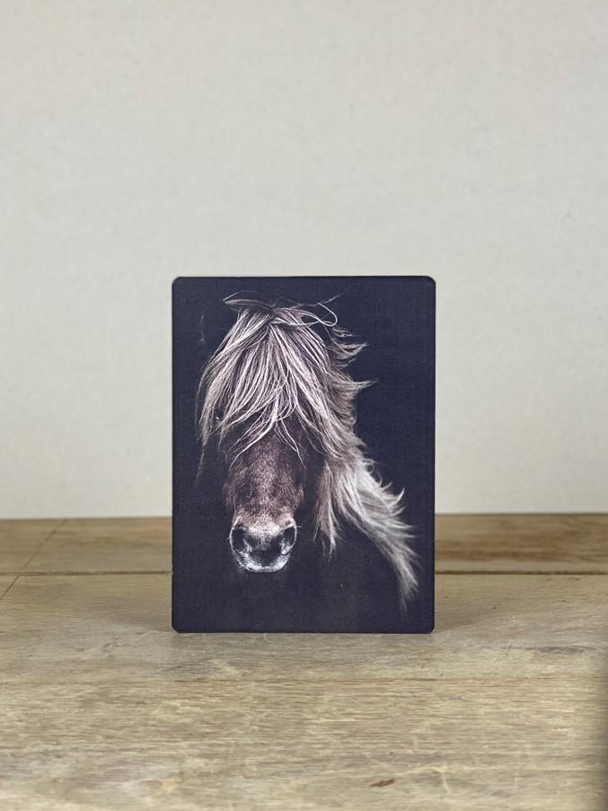 Vintage Holzbild Pferd