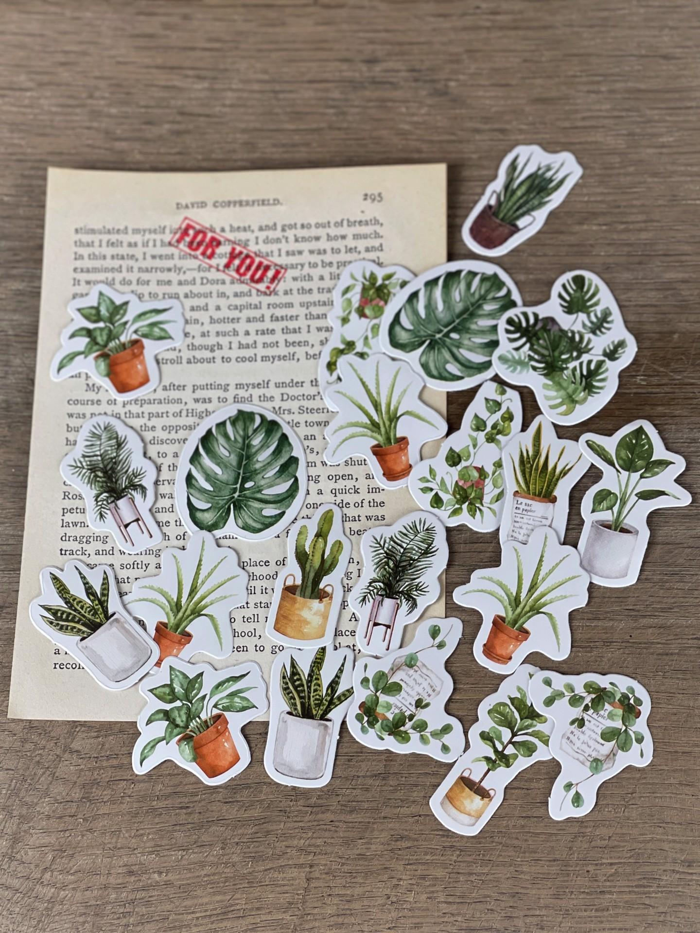 Stickerset Topfpflanzen