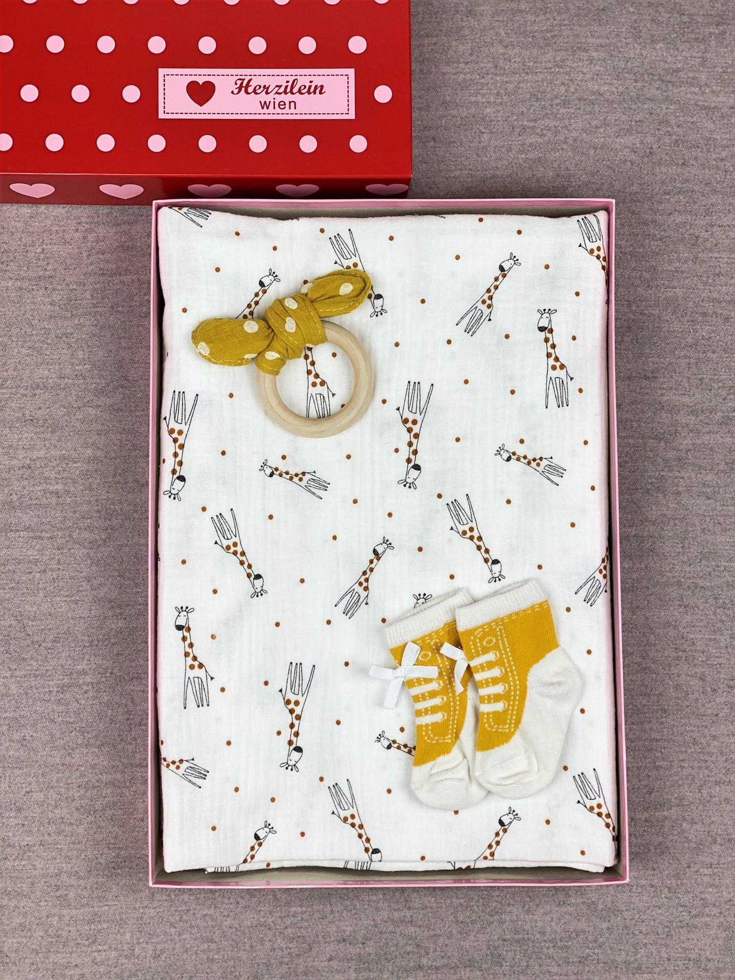 Geschenkbox Set No. 23 Giraffe weiß