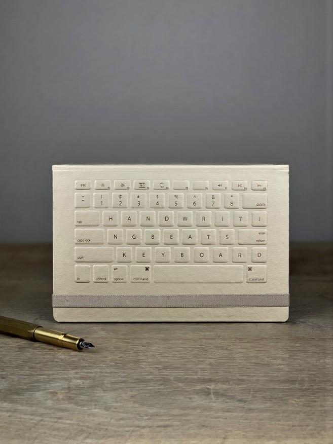 Notizbuch Keyboard gold