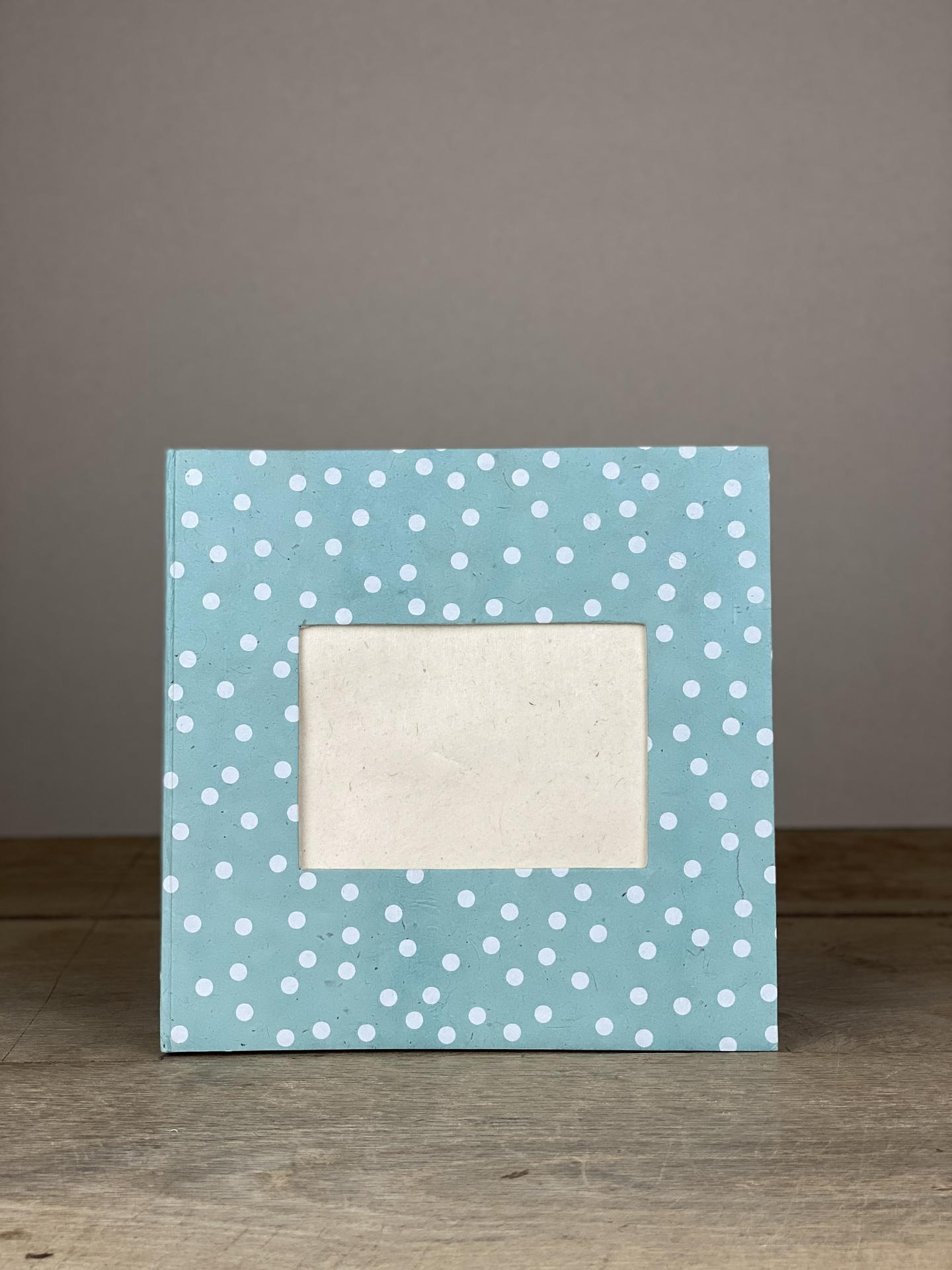 Album Hardcover Quart Dots blau/weiß