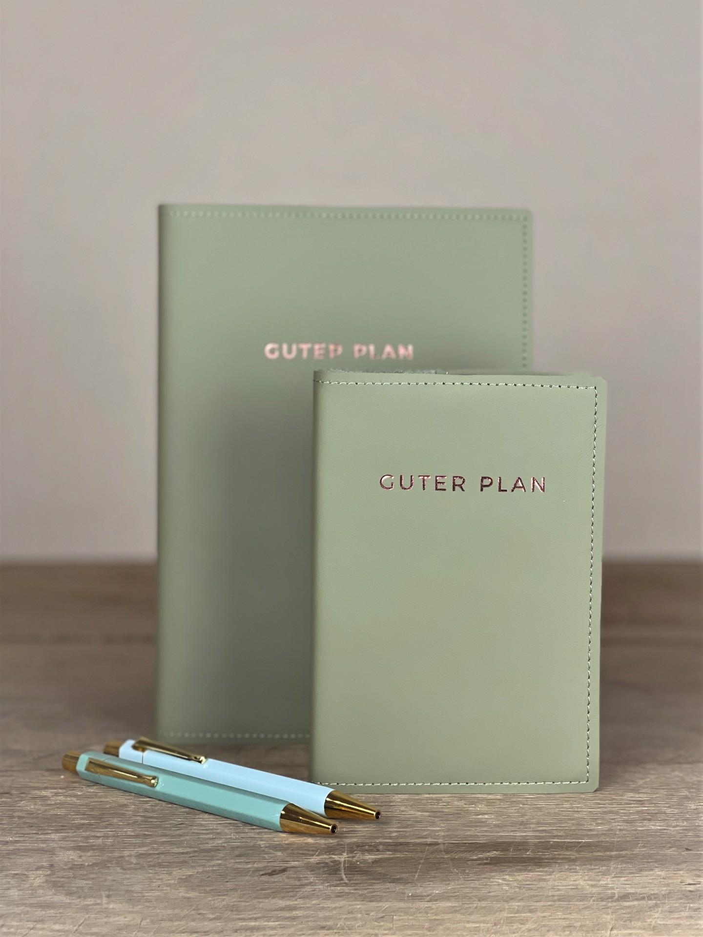 Kalender Guter Plan Leder  Lindgrün
