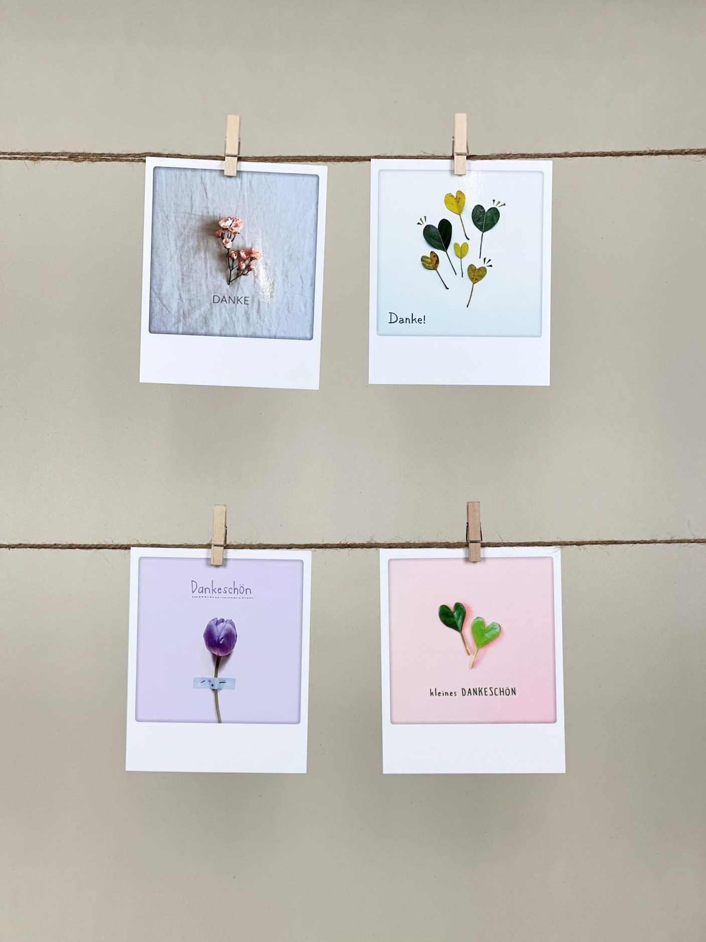Polaroid-Karten-Set Danke