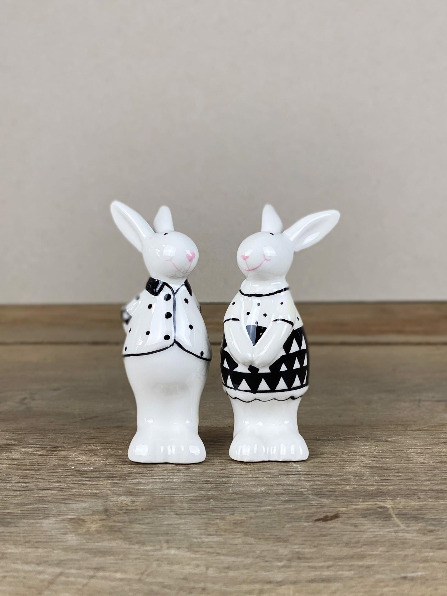 Osterhasen-Pärchen Keramik