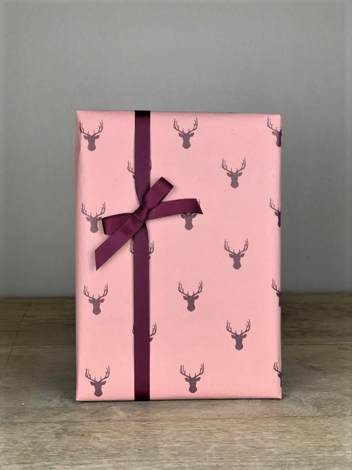 Geschenkpapier Hirsch rosa