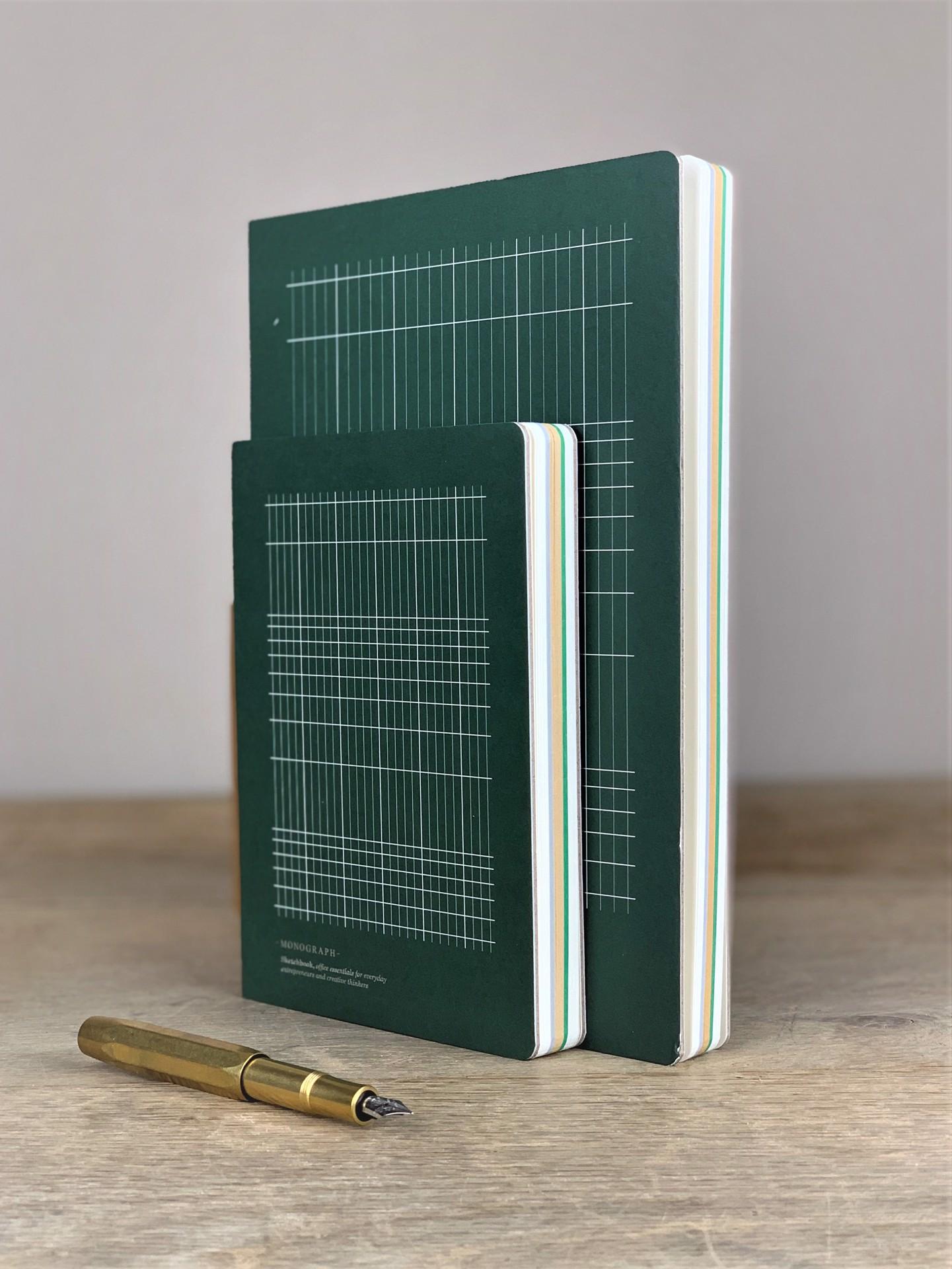 Notizbuch Monograph grau