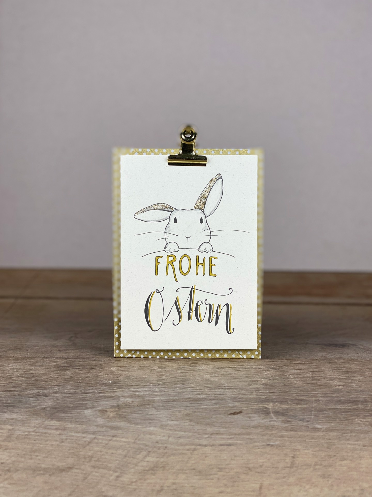 Karte A6 Frohe Ostern Hase