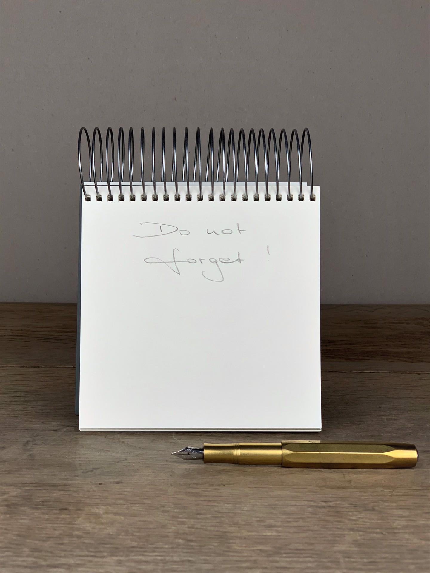 Notepad Olivgrün