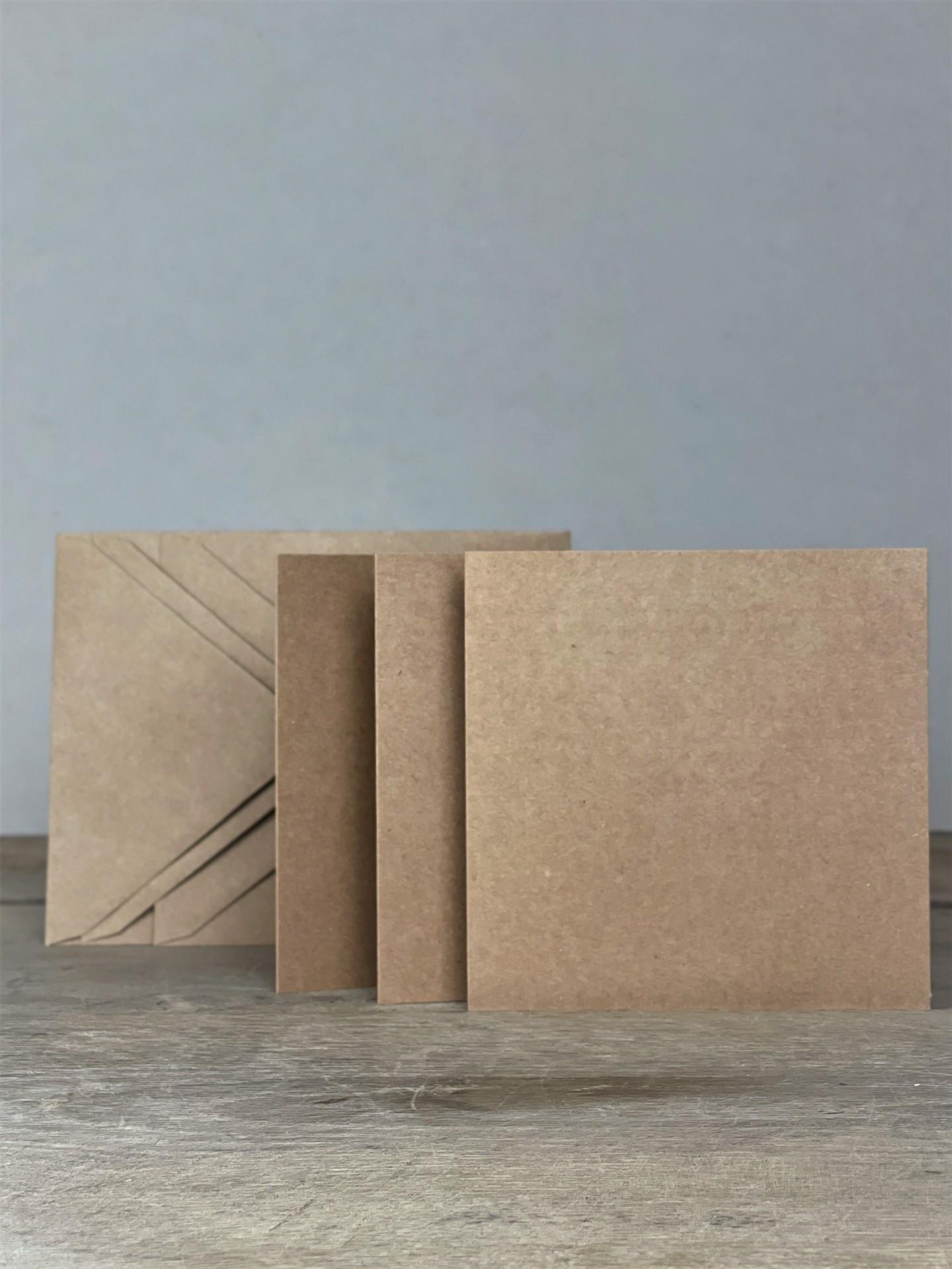 Kartenset Kraft quadratisch