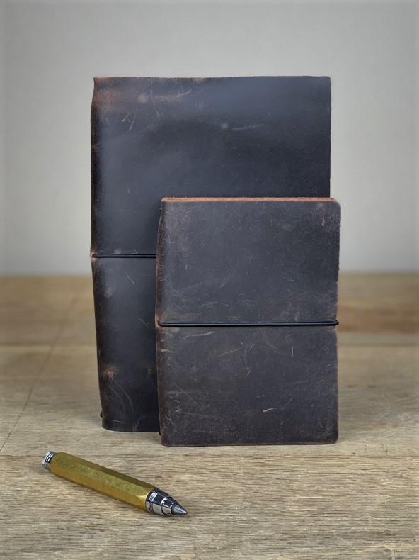Notizbuch Leder braun