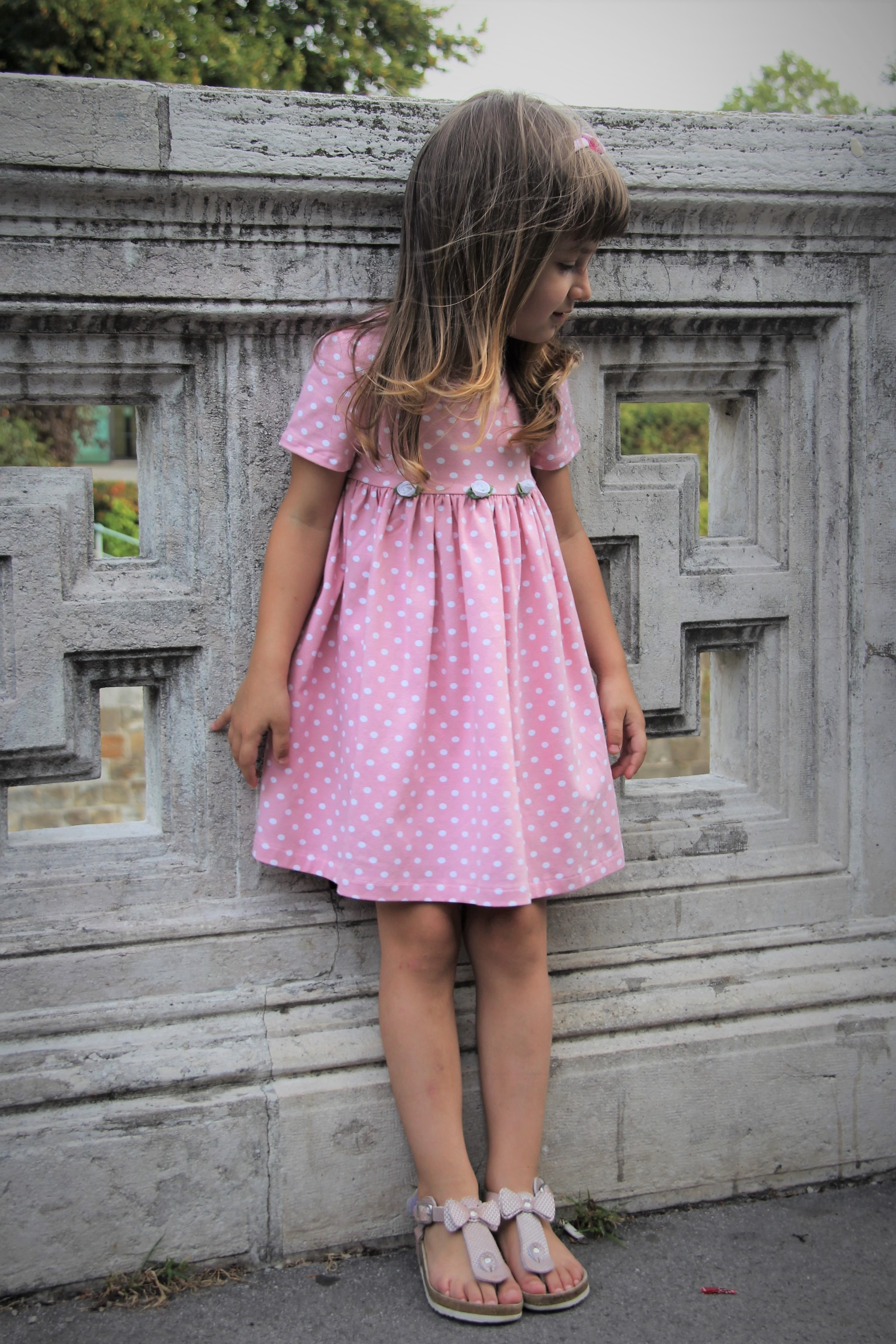 Kleid happy Dots rosa