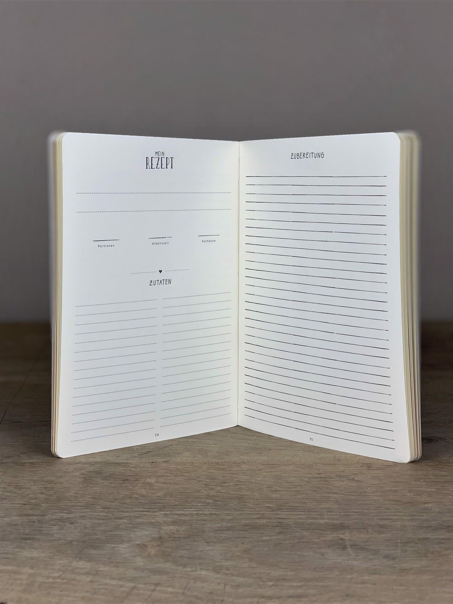 Notizbuch Meine liebsten Rezepte