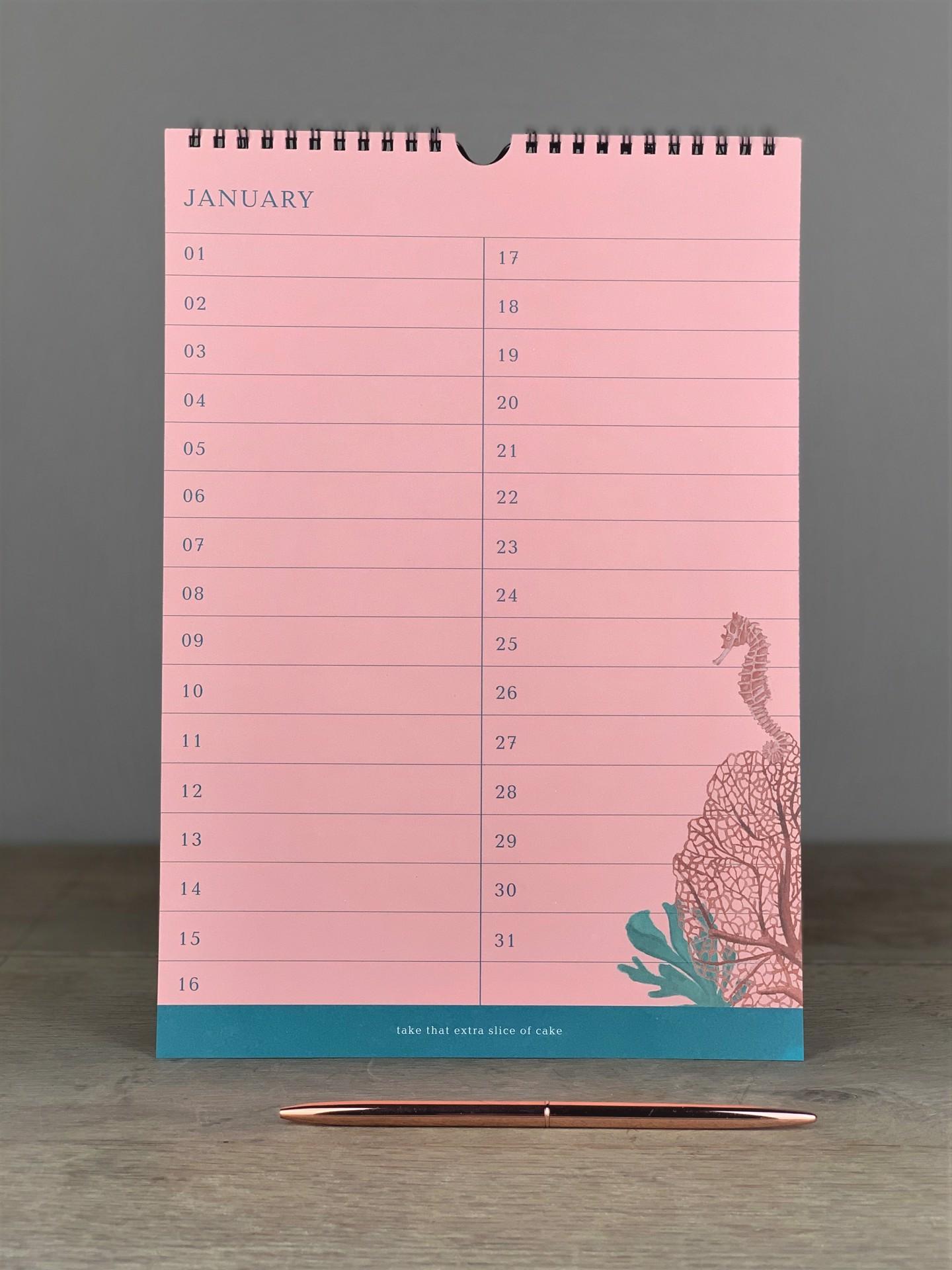 Kalender Koralle Birthday